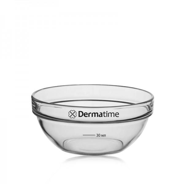 DERMATIME - Мисочка для масок стеклянная - 90 мм