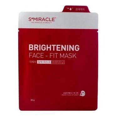 Маска для лица придающая сияние S+miracle Brightening Face-Fit Mask