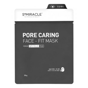 Маска для лица очищающая S+miracle Pore Caring Face-Fit Mask