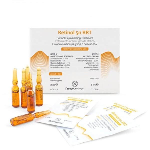 Программа с ретинолом -Retinol 5n RRT, (6 амп. по 2 мл + 6 саше по 5 мл)