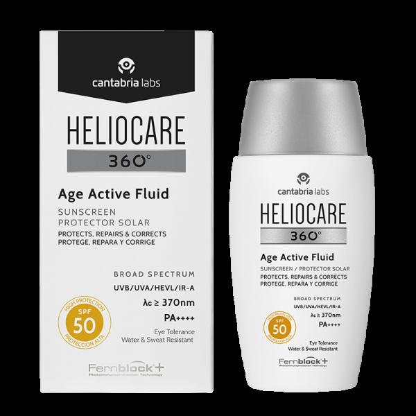 HELIOCARE 360° Age Active Fluid Sunscreen SPF 50 (Cantabria Labs) – Солнцезащитный омолаживающий флюид СЗФ 50