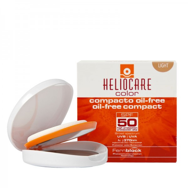 HELIOCARE - Крем-пудра компактная с SPF 50 для ж/кожи (светлый натуральный) Oil Free, 10г