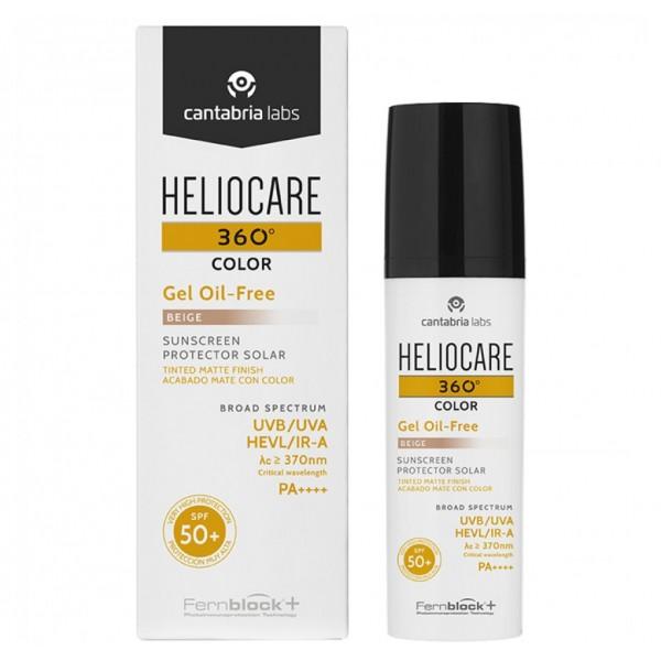 HELIOCARE - Тональный солнцезащитный гель (бежевый) Oil-Free, 50 мл