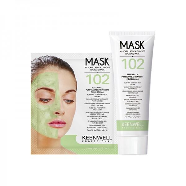№102 Очищающая маска, для жирной кожи, 125 мл + 25 г Keenwell